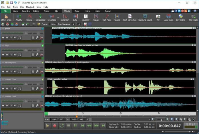Editing Music With Multitrack Recording Software