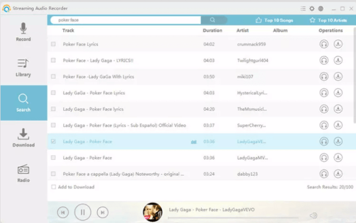 Search your songs