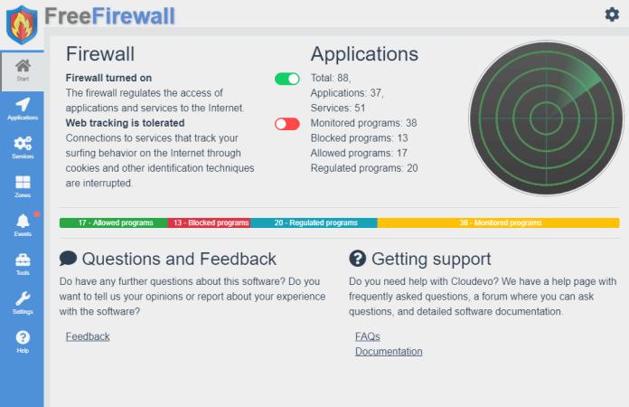 Free Firewall home page