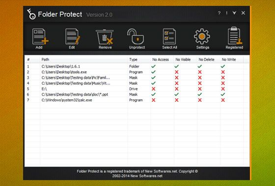 List of Files That Protect By Folder Protect