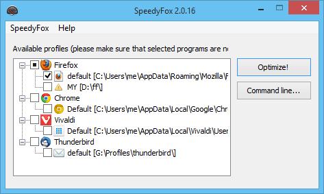 SpeedyFox Optimize