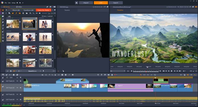 transition effects of Video Editor For Windows