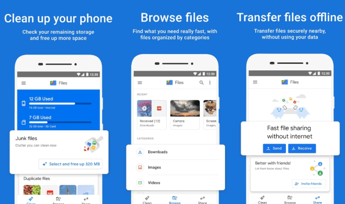 Google Files For Sharing Files