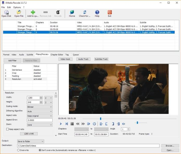 xmedia_recode for video recorder