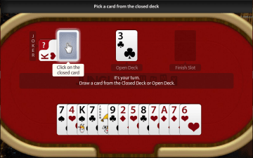 picking card from closed deck