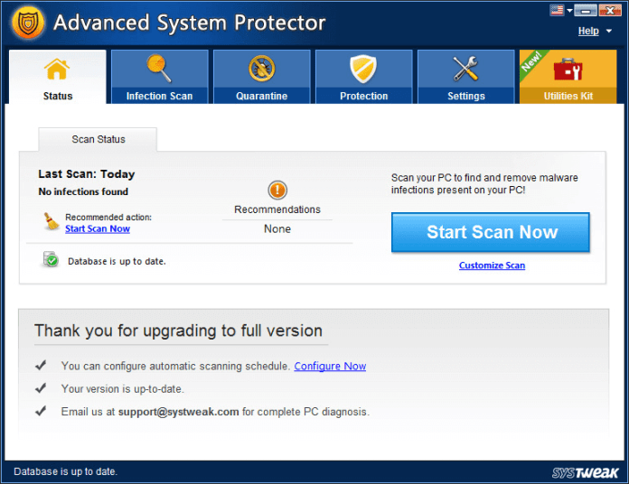 advanced system protector for status of pc