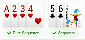 rummy sequences