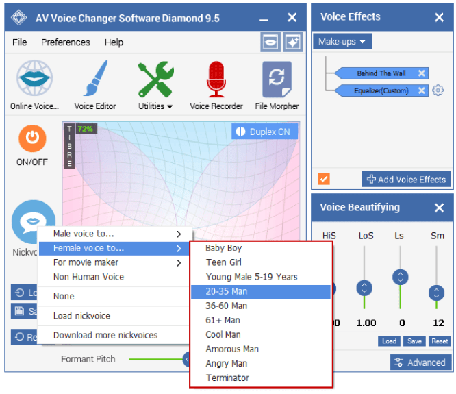 Change Voice By Category