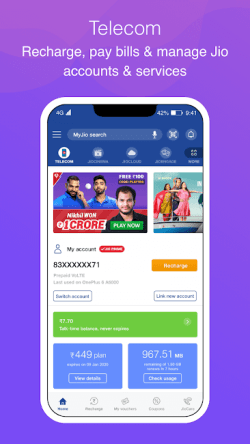 Manage Your Jio account