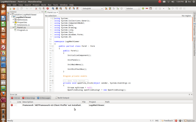 MonoDevelop For Ubuntu