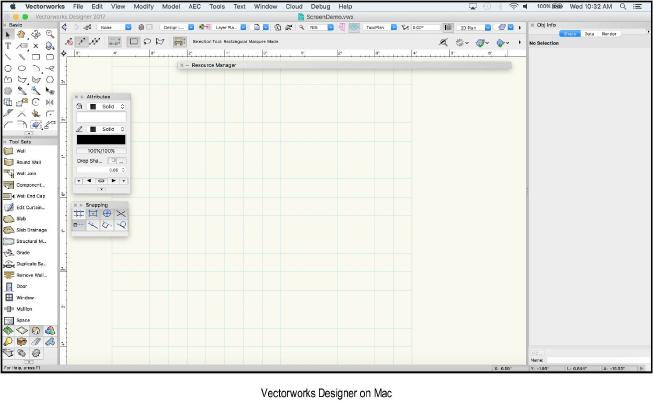 Vectorworks software to create CAD program