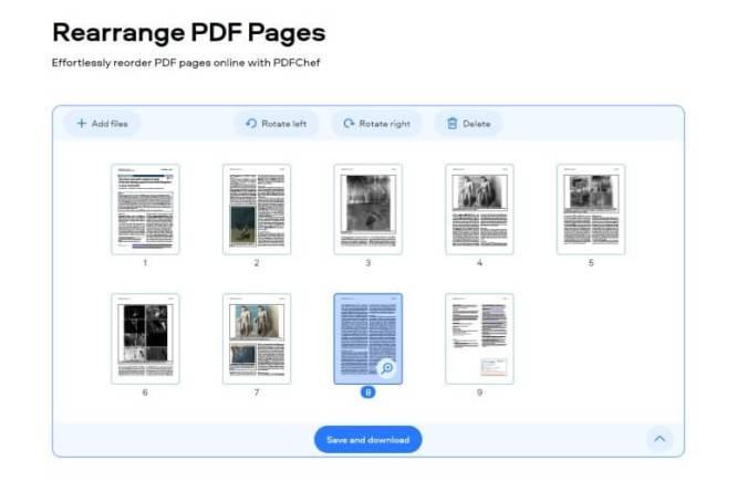 arranging pdf files