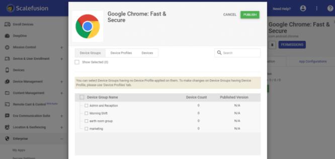 google crome publish