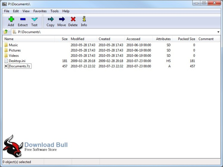 7-Zip16_04 User Interface