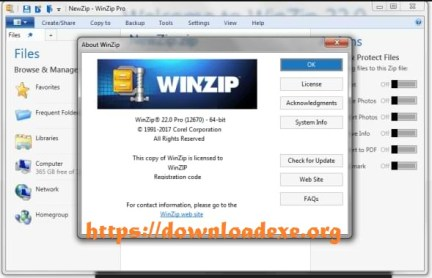 WinZip Pro Crack 25 With License Key Free Download 2021