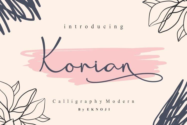 Korian-Handwritten-Script-Font