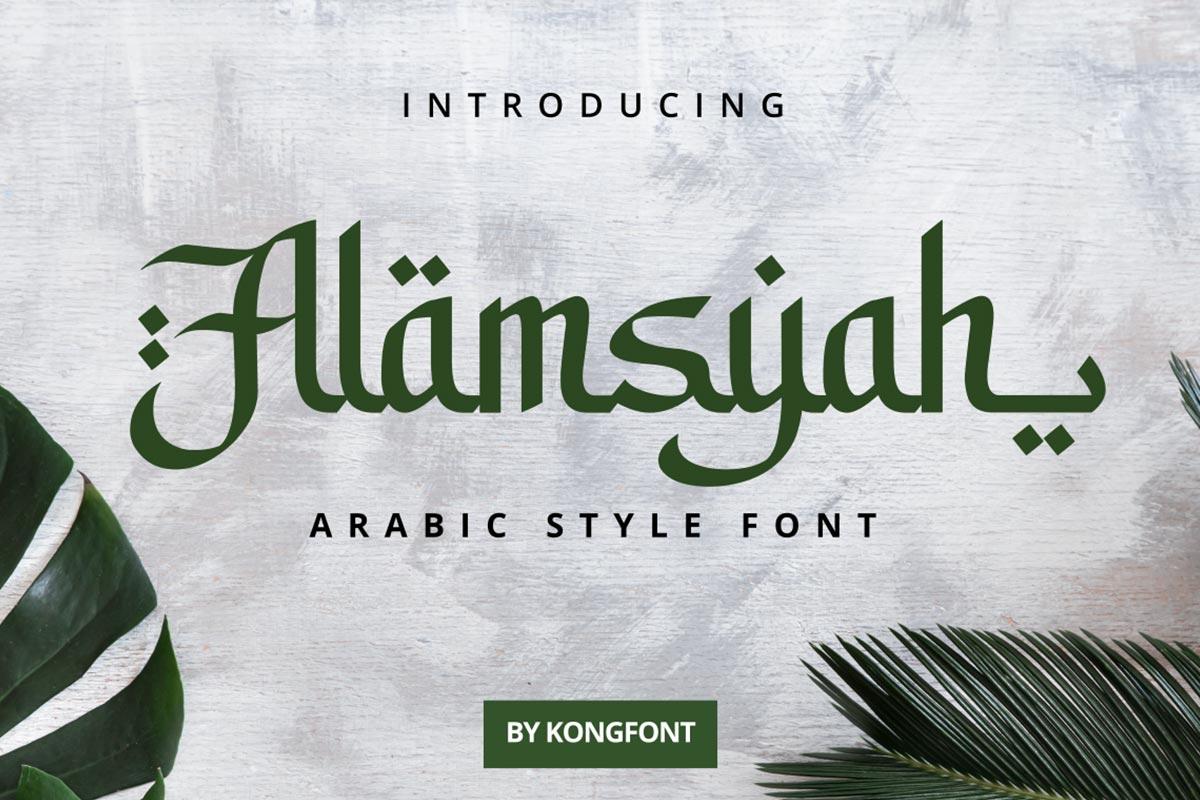 Alamsyah-Font