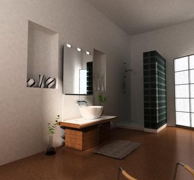 Simple style bathroom 3D model   DownloadFree3D.com on Model Bathroom  id=16633
