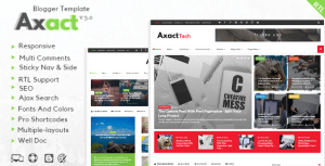 Axact v3.0 | Responsive Magazine Blogger Template Themeforest Free