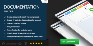 Documentation Builder v1.1.0 CodeCanyon 16563419