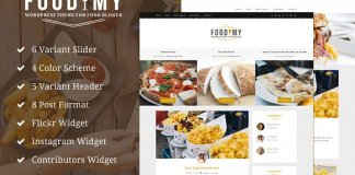 Foodimy v1.0 - Food Blogger WP Theme CreativeMarket 1193478 Free