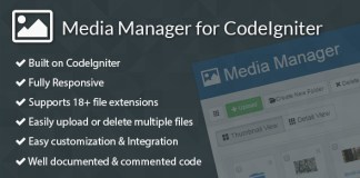 Media Manager for CodeIgniter v2.3.0 CodeCanyon 9517058