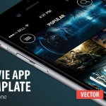 Movie App template Creativemarket 331444