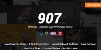 907 v4.0.22 - Responsive Multi-Purpose WordPress Theme