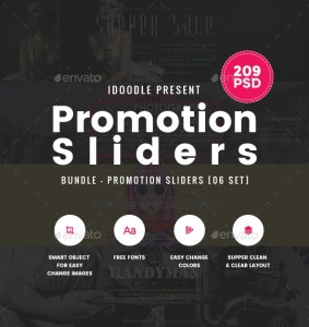 Bundle Promotion Sliders - 209PSD [06 Sets] 19528018 | GraphicRiver