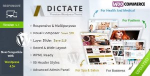Dictate v4.7.2 - Business, Fashion, Medical, Spa WP Theme | Themeforest