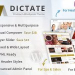 Dictate v4.7.2 – Business, Fashion, Medical, Spa WP Theme | Themeforest