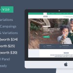 HelpingHands v2.0 – Charity/Fundraising WordPress Theme Nulled Free