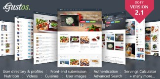 Gustos v2.1.2 - Community-Driven Recipes, WordPress Theme