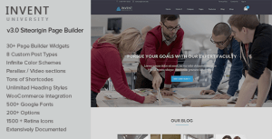 Invent v3.2 - Education Course College WordPress Theme