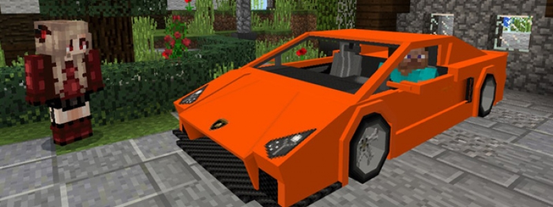 MINECRAFT PE MOD: Lamborghini Sports Car Add-on
