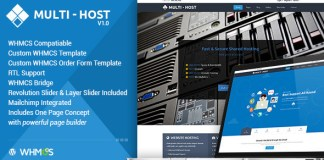 Multi Hosting v1.5.8 | WHMCS Hosting WordPress Theme Nulled Free