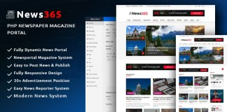 News365 v1.5 - PHP Newspaper Script Magazine Blog with Video Newspaper Nulled Free