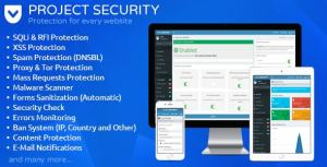 Project SECURITY v15.0 – Website Security, Antivirus & Firewall Nulled