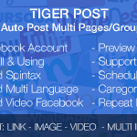 Tiger Post v3.0.2 – Facebook Auto Post Multi Pages/Groups/Profiles Nulled