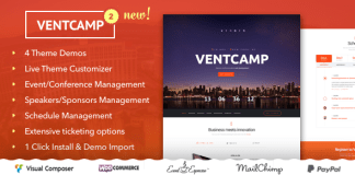 Ventcamp v2.0 - Event and Conference Theme