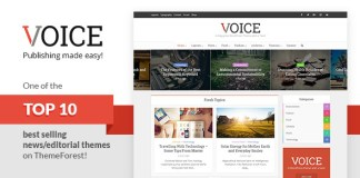 Voice v2.3 - Clean News/Magazine WordPress Theme Nulled Free