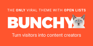 Bunchy v1.3 - Viral WordPress Theme with Open Lists | Themeforest