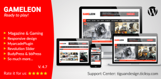 Gameleon v5.4 - WordPress Magazine & Arcade Theme | Themeforest