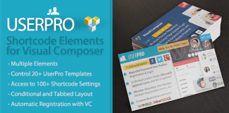 UserPro Shortcode Elements for Visual Composer v1.1.2 | Codecanyon