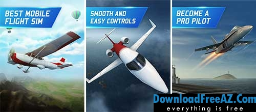Download Free Flight Pilot Simulator 3D + (Infinite Coins/Spins/Unlocked) for Android