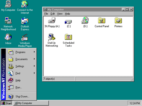 Windows NT 4.0 Workstation Desktop
