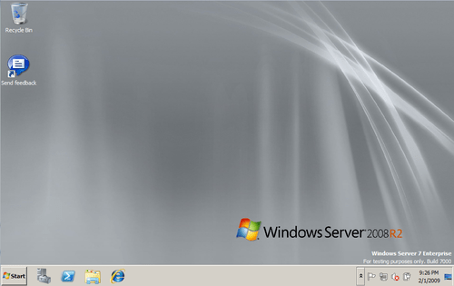 Windows Server 2008 R2 Desktop