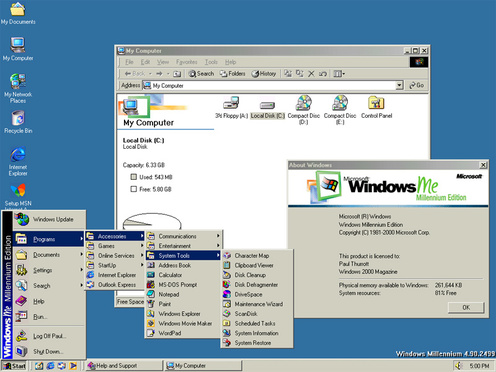 Windows ME (Millennium Edition) Desktop