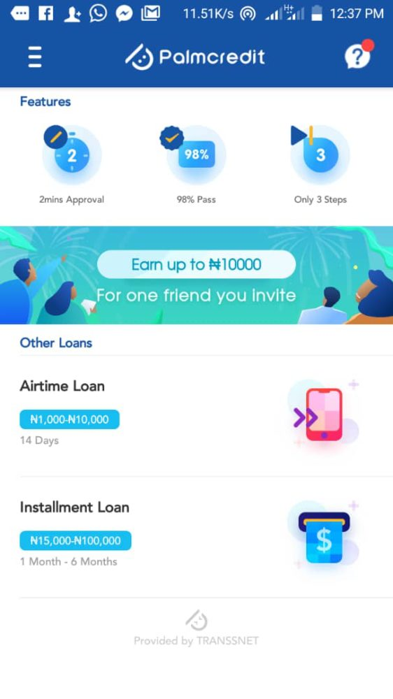Download Palmcredit Instant Loan App