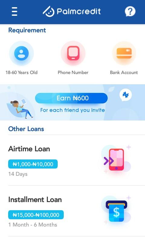 Best Quick Loan App in Nigeria - Palmcredit